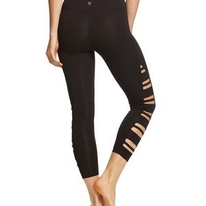 696741d6b1152d Betsey Johnson cropped workout legging cutouts